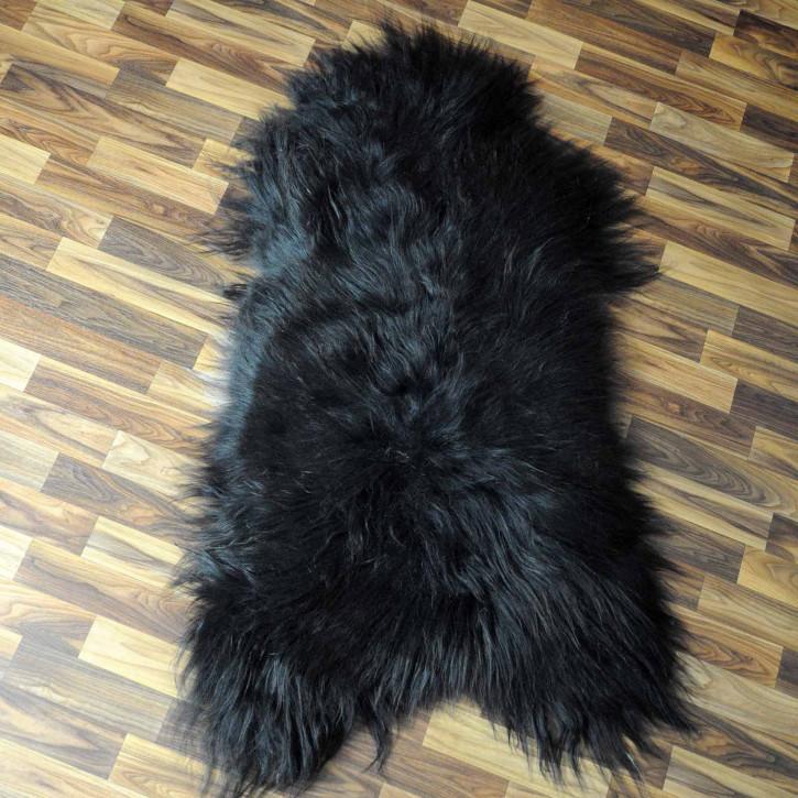 XL ÖKO Island Schaffell beige schwarzbraun 110x80 #8344