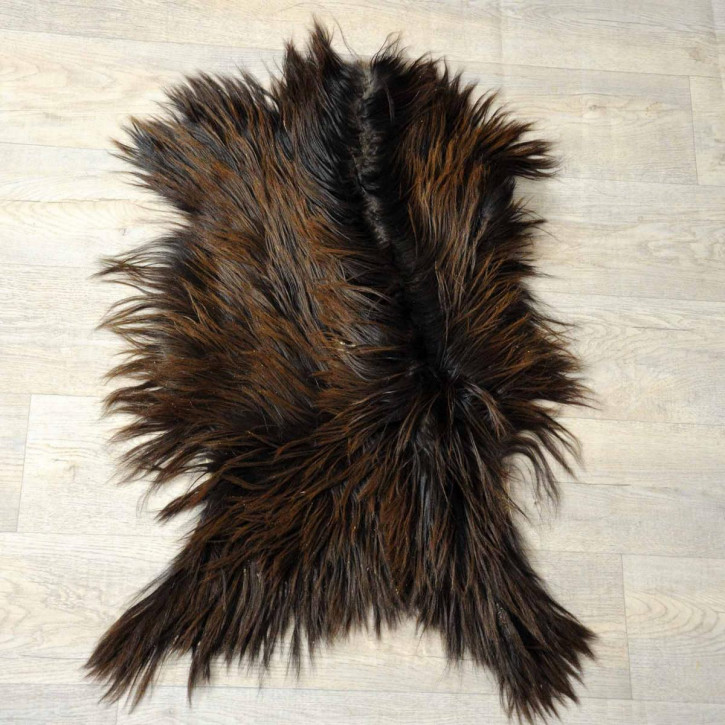 XXL ÖKO Island Schaffell beige schwarzbraun 120x75 #8346