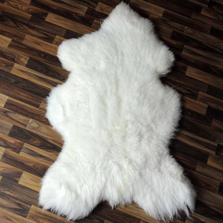 XXL ÖKO Island Schaffell beige schwarzbraun 120x80 #8358