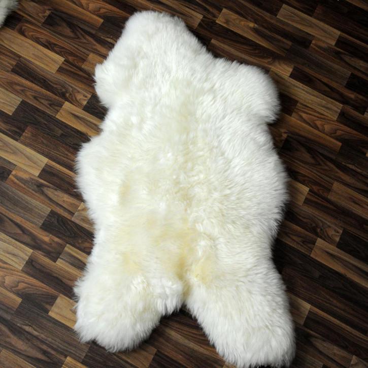 XL Schaffell weiß braun geflammt 110x65 Couch Auflage #9030