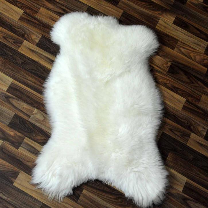 XXL ÖKO Island Schaffell beige schwarzbraun 125x70 #9135
