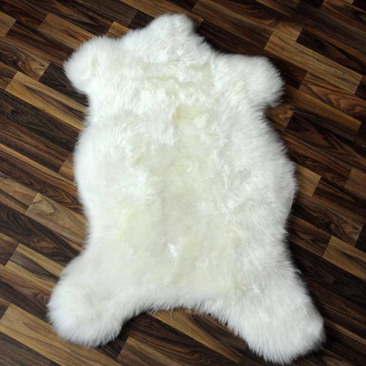 XL ÖKO Island Schaffell weiß schwarz geflammt 110x70 #9138