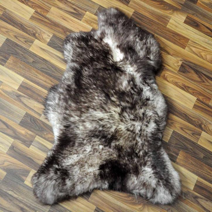 XXL ÖKO Island Schaffell beige schwarzbraun 120x75 #9174