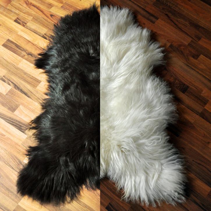 XXXL ÖKO Island Schaffell schwarz oder naturweiß 120-130 x 75-85cm