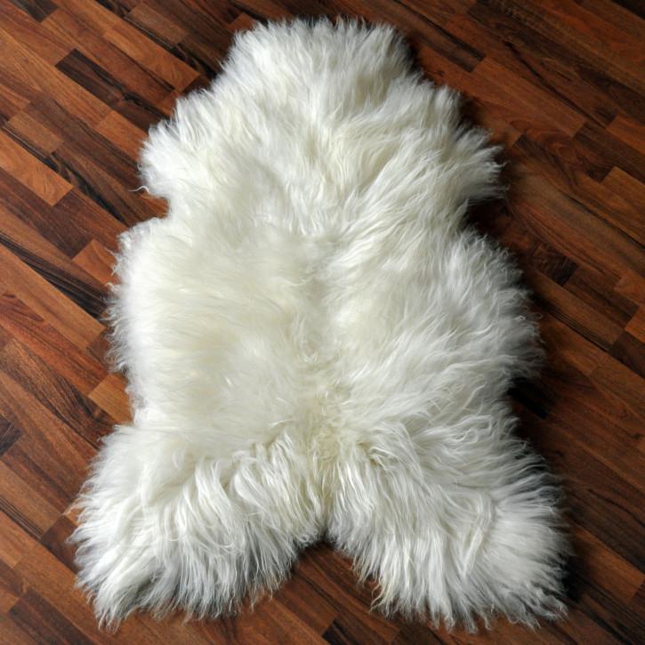 XL ÖKO Island Schaffell Lammfell creme weiß 100-110 x 70-80cm
