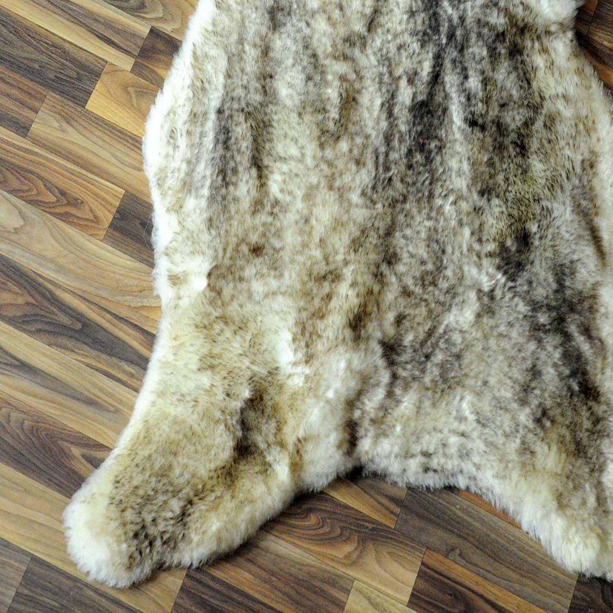 ko schaffell lammfell braun grau 95x65 geschoren 3498 3498. Black Bedroom Furniture Sets. Home Design Ideas
