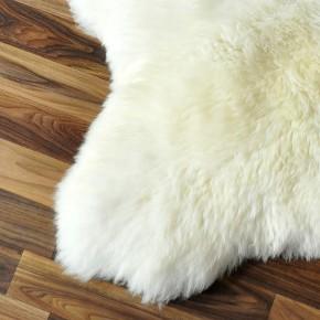 XXL ÖKO Schaffell Lammfell natur weiß 110 x 70-75 cm Teppich