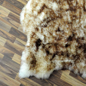 Island Schaffell grau schwarz geflammt 100x70 Auflage #2289