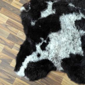 Island Schaffell grau schwarz geflammt 105x70 Auflage #2290