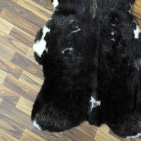 Island Schaffell grau schwarz geflammt 105x70 Auflage #2295