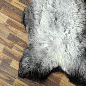 Island Schaffell grau schwarz geflammt 105x65 Auflage #2300