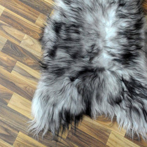 XXL ÖKO Island Schaffell natur grau schwarzbraun 125x85 #2481