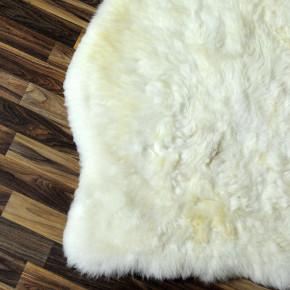 XXXL ÖKO Island Schaffell schwarzbraun weiß 130x80 #2508