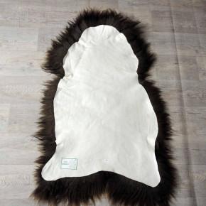 XL ÖKO Schaffell weiß braun geflammt 110x75 #3259