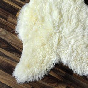 XXXL Schaffell Fell creme weiß 135x85 Couch Stuhl Auflage #3522