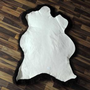 XXL Island Schaffell schwarzbraun weiß 125x80 Kamin Vorleger #3669
