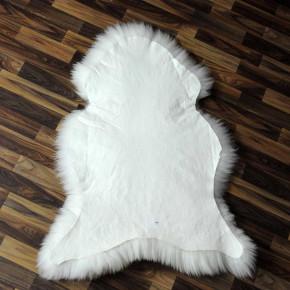 XL Schaffell Fell weiß braun geflammt 110x70 Hundebett #3867