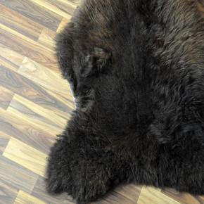 XXL ÖKO Schaffell Fell Lammfell braun grau beige 125x80 #4046