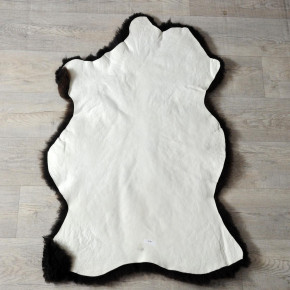ÖKO Schaffell Fell braun grau 105x75 Auflage Teppich #4139