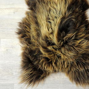 ÖKO Island Schaffell Lammfell natur braun 100x70 #4495