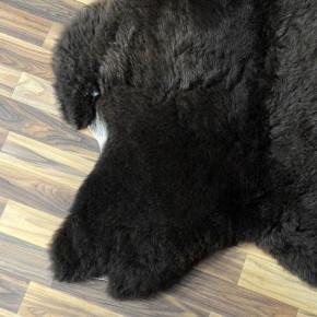 XL ÖKO Schaffell Fell Lammfell braun grau 110x75 Teppich #4510
