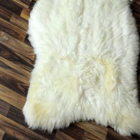 XL ÖKO Schaffell Lammfell Fell creme weiß braun 120x80 Auflage #4858