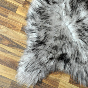 XXL ÖKO Island Schaffell natur braun weiß 120x80 Auflage #4971