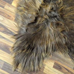 XXL ÖKO Island Schaffell schwarzbraun grau 125x85 Perchten #5448