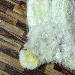 ÖKO Schaffell Fell braun grau 105x65 Auflage geschoren #5777